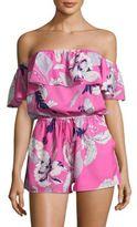 Yumi Kim Ruffled Floral-Print Jumpsuit