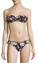Michael Kors Two-Piece Ruffled Bandeau Bikini