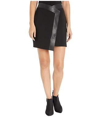 BCBGMAXAZRIA Asymmetrical Hem Skirt