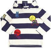 Stella McCartney Hooded Organic Cotton T-Shirt W/ Patches