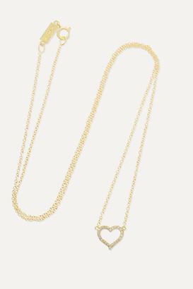 Jennifer Meyer Small Open Heart 18-karat Gold Diamond Necklace