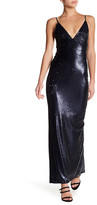 ABS by Allen Schwartz Skinny Strap Sequin Gown