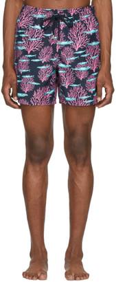 Vilebrequin Navy Coral Moorea Swim Shorts