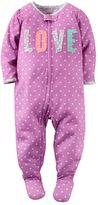 Carter's Baby Girl Printed Applique Footed Pajamas