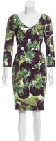 Dolce & Gabbana Sheath Eggplant Dress