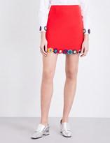 Mary Katrantzou Psychedelic-jacquard mini skirt