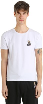 Moschino Slim Fit Bear Cotton Jersey T-Shirt
