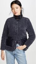 Madewell Blue Sherpa Jacket