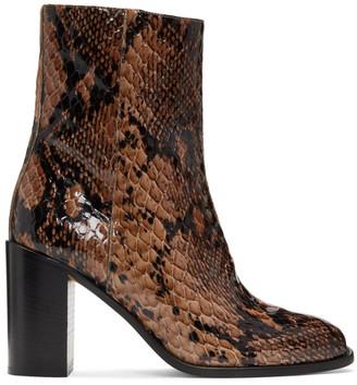 Maryam Nassir Zadeh Brown Python Mars Boots