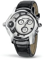 Roberto Cavalli Caracter - Men's Dual-Time Chronograph Watch Silver