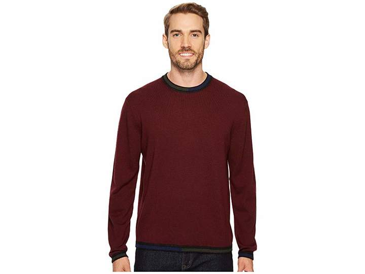 Robert Graham Cooperstown Long Sleeve Sweater Crew Neck Men's Sweater