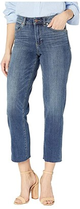 Vince Camuto High-Rise Indigo Denim Crop Straight Leg Jeans in Mid Vintage (Mid Vintage) Women's Jeans