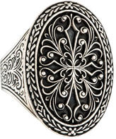 Konstantino Engraved Oval Cocktail Ring