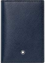 Montblanc Mont Blanc Sartorial Leather Business Card Holder - Indigo