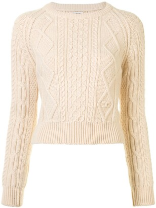 Chanel Pre Owned Cable-Knit Wool Jumper