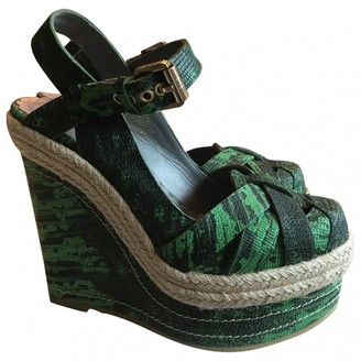 Mulberry Green Exotic leathers Espadrilles