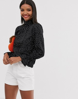 AX Paris high neck long sleeve blouse