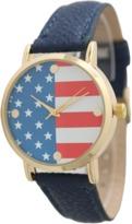 Olivia Pratt Stainless Steel All American Leather Watch.