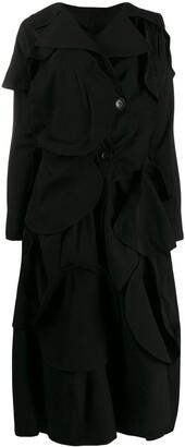Yohji Yamamoto appliqué detail coat