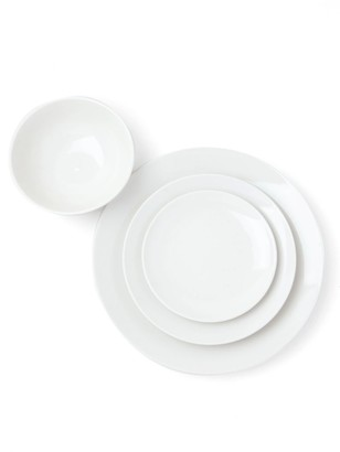 Hudson Wilder Damek White 16-Piece Dinnerware Set