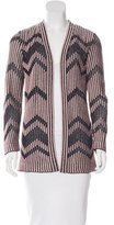 M Missoni Metallic Open Front Cardigan
