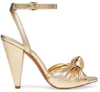 MICHAEL Michael Kors Suri Knotted Metallic Leather Sandals