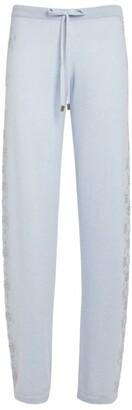 William Sharp Cashmere Crystal-Embellished Sweatpants