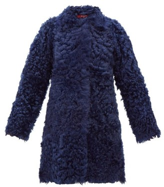 Sies Marjan Ripley Shearling Coat - Womens - Blue