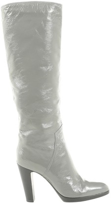 Sergio Rossi Grey Leather Boots
