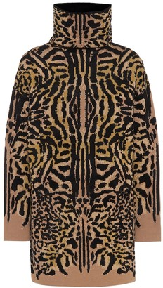 Givenchy Cheetah-jacquard wool-blend sweater