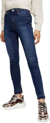 Topshop Jamie High Waist Split Hem Skinny Jeans
