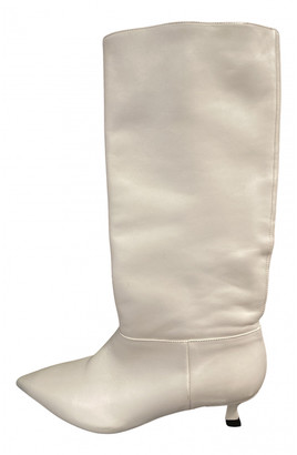 Uterque White Leather Boots