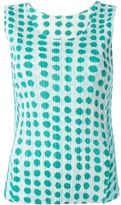 Pleats Please By Issey Miyake printed pleated tank