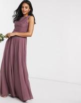 Asos Design DESIGN Bridesmaid maxi dress with soft pleated bodice