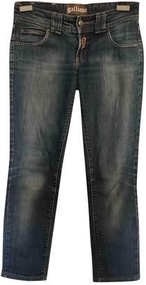 John Galliano Blue Cotton - elasthane Jeans for Women