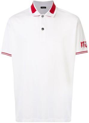 Kiton Logo Print Polo Shirt