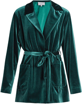 Luisa Beccaria Tie-waist velvet jacket