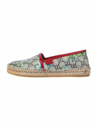 Gucci GG Supreme Coated Canvas Espadrilles Blue