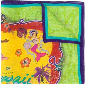 Etro Hawaii-print pocket square