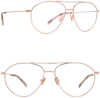 Diff Eyewear Scout 53mm Modified Aviator Blue Light Blocking Glasses
