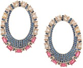 Eye Candy La Samantha Multi-Color Cubic Zirconia Oval Hoop Earrings