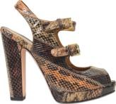 Alexander McQueen Patch work peep toe sandal