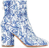 Maison Margiela China print boots - women - Calf Leather/Leather - 37