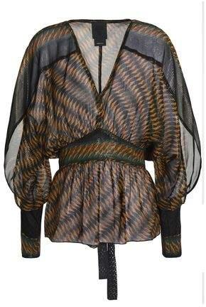 Anna Sui Printed Silk-Chiffon Blouse
