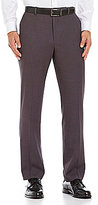 Perry Ellis Slim-Fit Stretch Solid Flat-Front Pants
