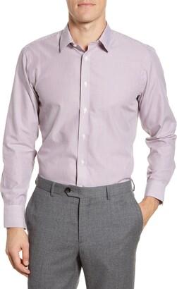 The Tie Bar Trim Fit Stripe Dress Shirt