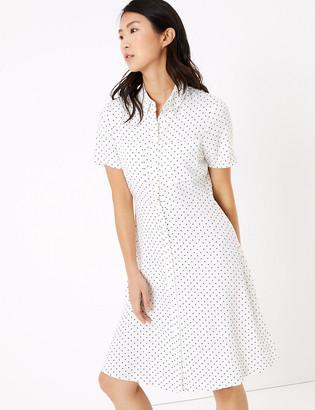 Marks and Spencer Polka Dot Mini Shirt Dress