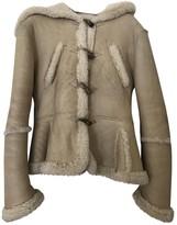 Alexander McQueen Beige Shearling Jackets