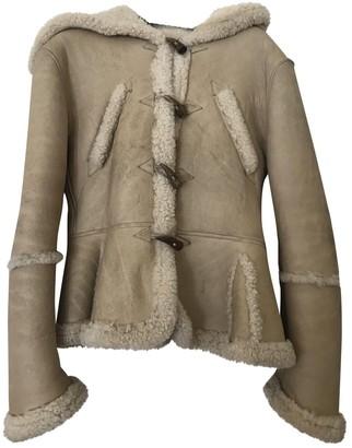 Alexander McQueen Beige Shearling Jacket for Women