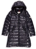 Moncler Girl's 'Moka' Long Hooded Down Jacket